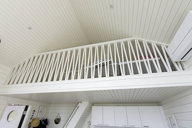 Banister in a summer cottage in Korpo